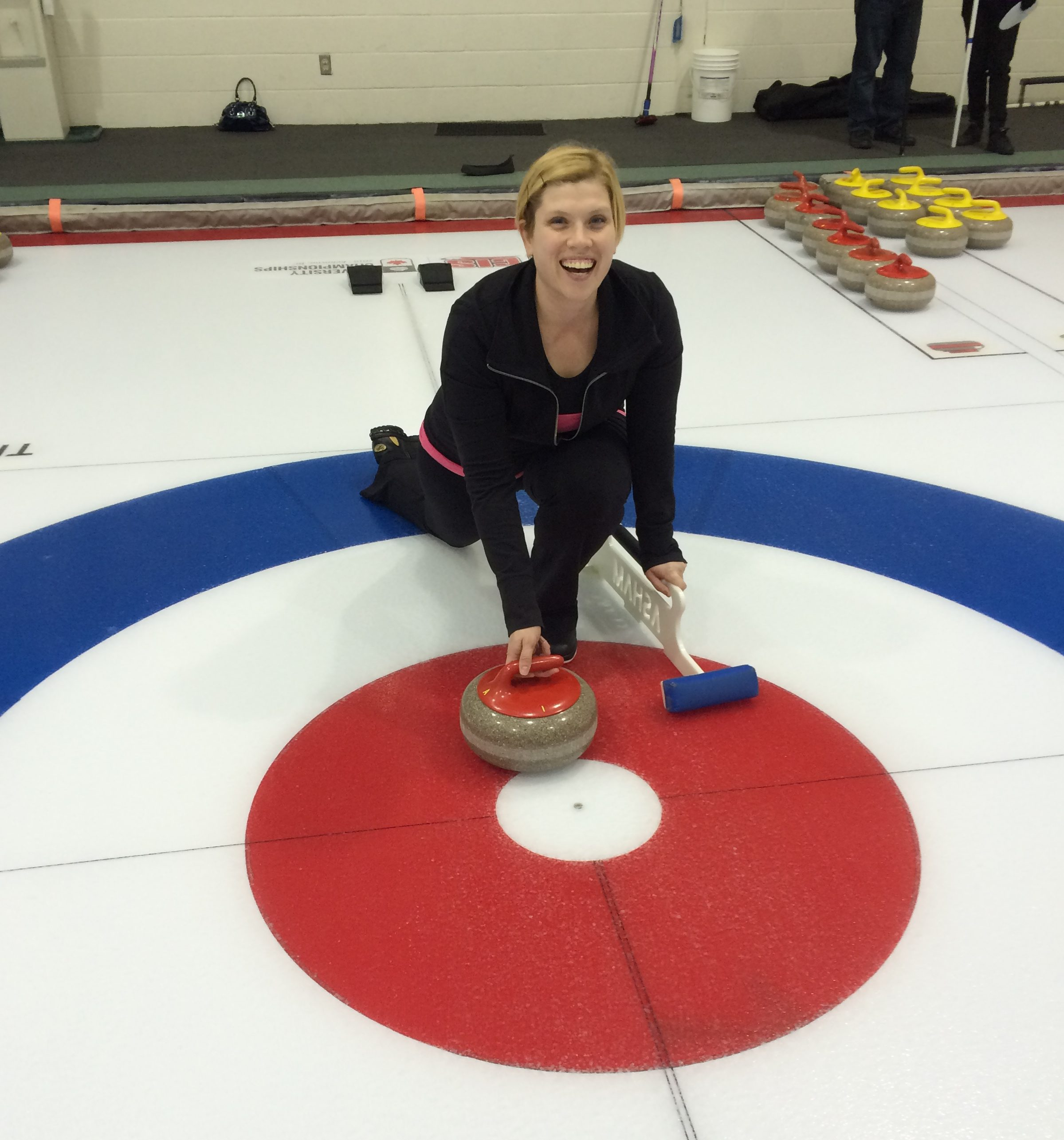 Bree Hankins Curling at arena